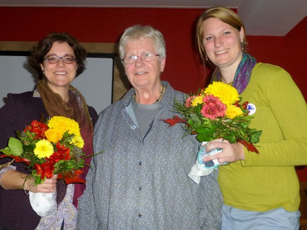 Neuer Vorstand: Melanie Gentner, Hanne Braun und Saskia Ulmer.