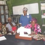 Eine Nähmaschine für die Frauen des YWCA Namibia
