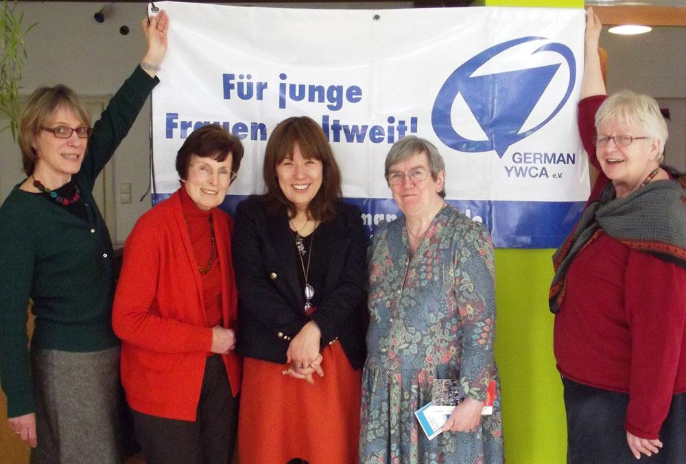 V.l.: L. Raudonat, U. Lüders, Masami Kato, Sheila Brain, Hanne Braun.